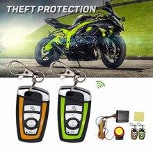 Buy 12V 125dB Remote Control Motorcycle Anti-theft Moto Scooter Engine Start for Honda/Suzuki/Kawasaki/Yamaha Burglar Alarm directly from merchant!
