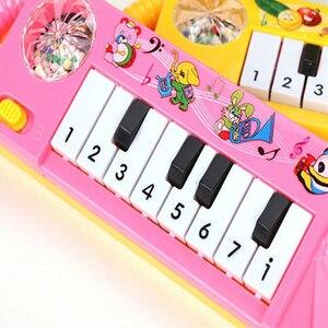 Image 4 - เปียโนเด็กของเล่นเด็กวัยหัดเดินพัฒนาการของเล่นพลาสติกเด็กดนตรีเปียโนของเล่นเพื่อการศึกษาเครื่องดนตรี