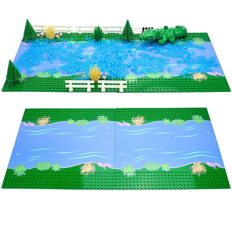 Đường Cơ Sở Tấm Đường Gạch Cổ Điển Baseplates Tấm Xây Dựng Thành Phố Khối Xây Dựng 7280 7281 Tương Thích Với Lego
