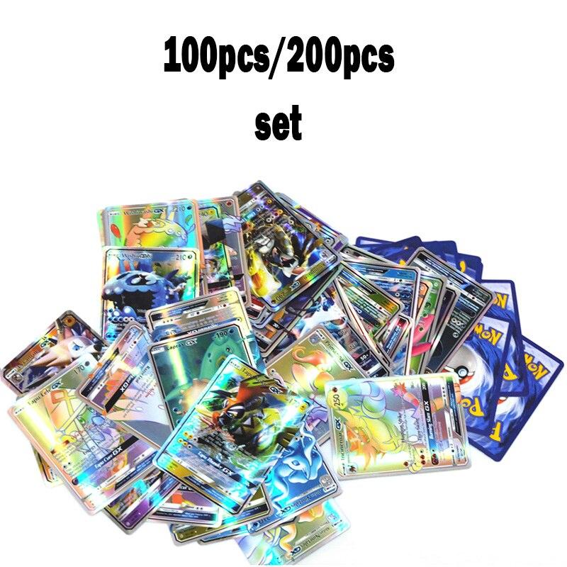 GX MEGA Shining Cards Game Battle Cartes Pokemon 100pcs 200pcs Set Trading Cards Game Children Pokemon Toy