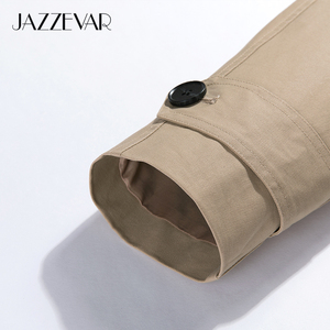 Image 5 - JAZZEVAR 2020 New arrival autumn trench coat women cotton washed long double breasted trench loose clothing high quality 9013 1