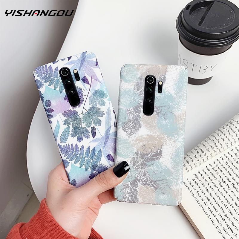 Luxury Ink Painting Phone Case For Xiaomi Redmi Note 8 7 K20 Pro Hard PC Matte Cover Cases For Xiaomi Mi 9 SE 9T Pro A3 8 Lite(China)
