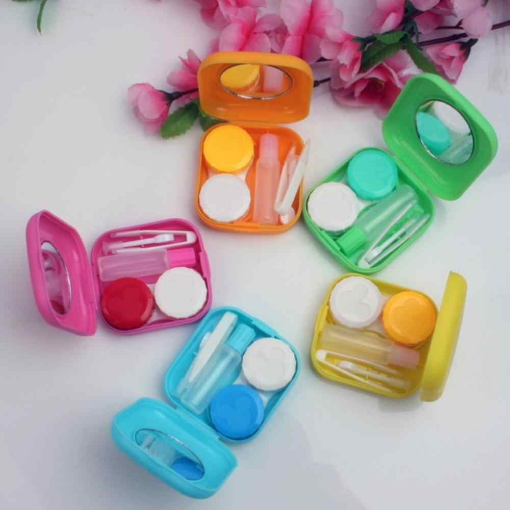2019 Hot New Candy-Colored Contact Lens Case Portable Storage Case Box Holder Container Outdoor Lovely Travel Contact Lenses Box