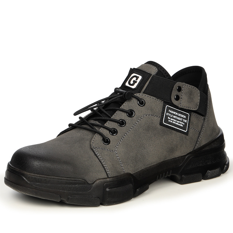 Men's Safety Shoes Anti-piercing Breathable Wear-resisting Anti-skid And Safety Shoes Steel Toe Workwear Shoes