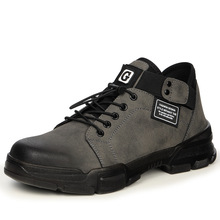 Safety-Shoes Workwear Steel-Toe Men's And Wear-Resisting Anti-Skid Breathable