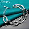 Aimarry 925 Sterling Silver High Quality Oval TO Bracelet For Women Party Engagement Wedding Gifts Fashion Jewelry