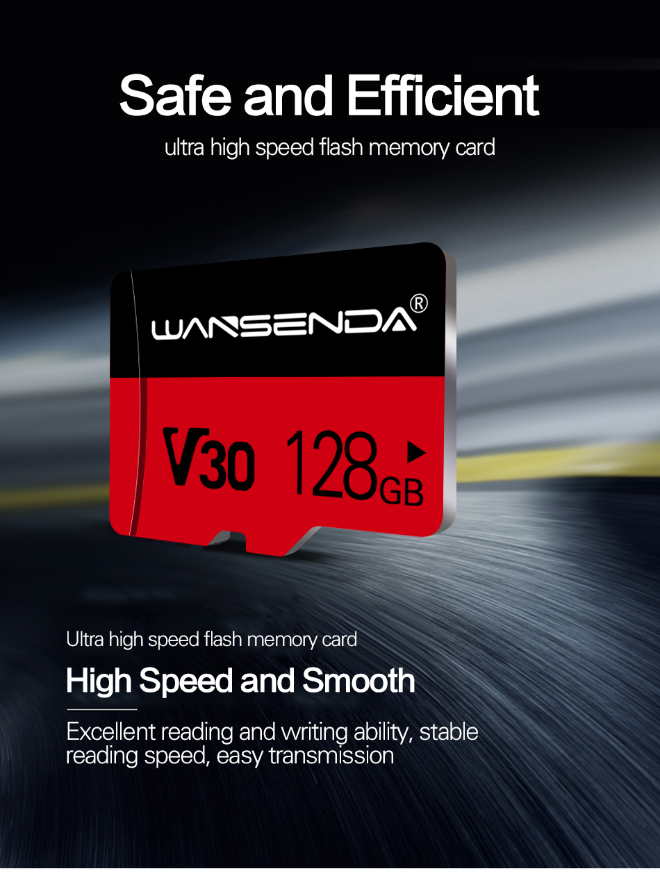 WANSENDA V30 Memory Card 128GB 64GB 32GB 16GB 8GB Micro sd card Class10 V10 flash card Memory Microsd TF Card for SmartPhone
