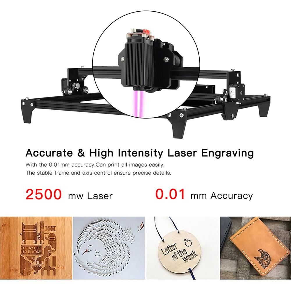 Image 4 - Gravador a laser cnc 12 v 30*40cm 2500 mw 5500 mw mini máquina de gravação a laser 2 eixos diy desktop roteador de madeira/cortador/impressora + óculos de proteção laserImpressoras 3D   -