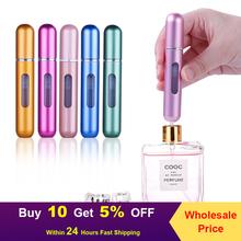 8ml 5ml przenośna Mini butelka perfum wielokrotnego napełniania z rozpylaczem zapach pompka puste pojemniki kosmetyczne butelka rozpylacz do podróży tanie tanio CN (pochodzenie) 5 ml 8 ml Wielokrotnego napełniania butelek 13 Color you can choose