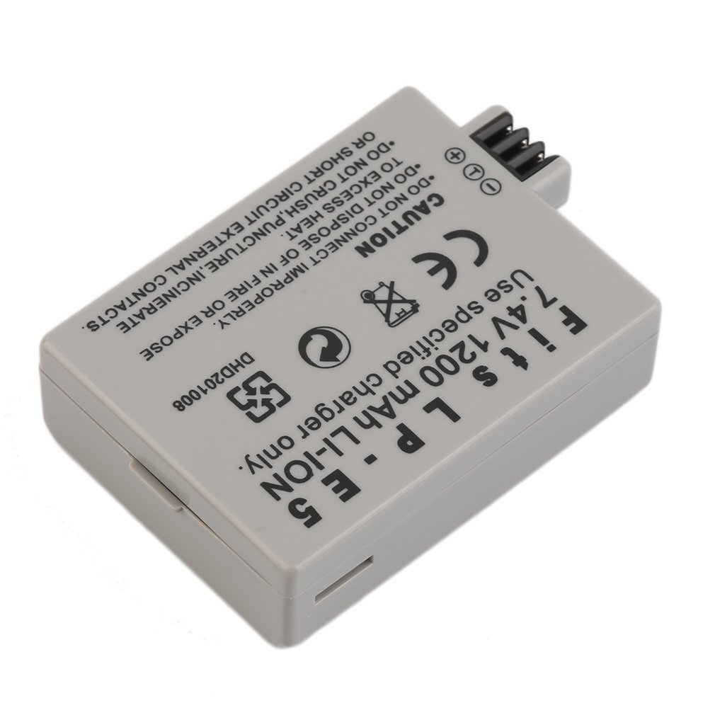 1pc LP E5 LP E5 LPE5 Battery 7.4V 1200MAH Camera Rechargeable Battery for CANON 450D 500D 1000D EOS Rebel T1i XS XSi Digital SLR|Digital Batteries| |  - title=