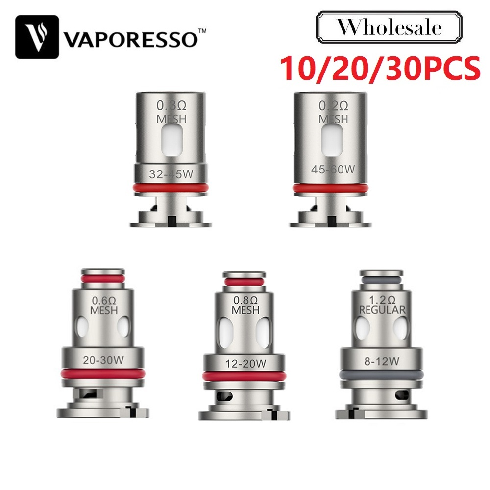 10~30pcs/lot Original Vaporesso Target PM80 GTX Coil 0.2ohm/0.3ohm Core Head Fit Target PM80 Pod Electronic Cigarette Vape Vapor