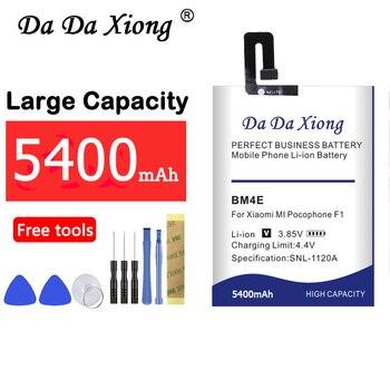 BM4E 5400mAh Replacement Batteries For Xiaomi MI Pocophone F1 Poco F1 Mobile Phone Battery