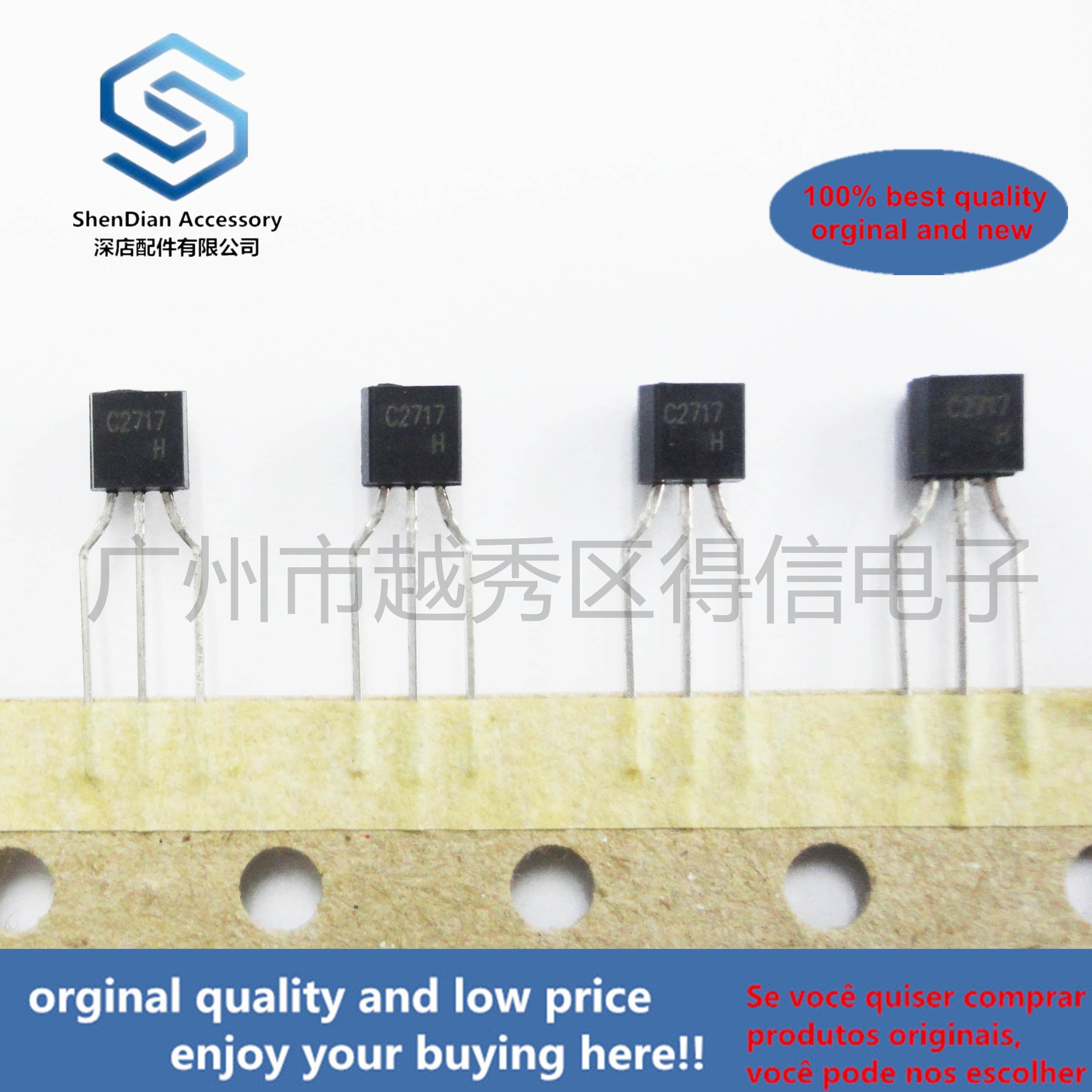 10pcs 100% Orginal New  2SC2717 C2717 TO-92 TO-92 Plastic-Encapsulate Transistors Real Photo