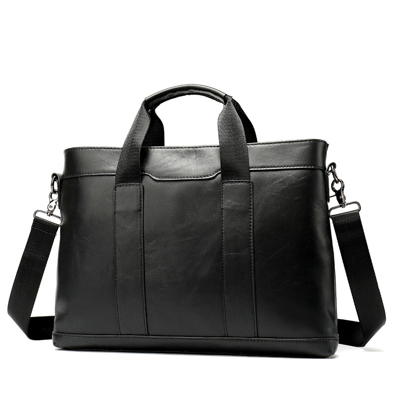 1PCS  New 2019 Fashion Men's Real Leather Antique Single Shoulder Bag 14 - Inch Business Computer Briefcase. Men Leather Bag