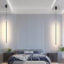 İskandinav LED kolye ışıkları ev yatak odası dekorasyon başucu kolye lambaları oturma odası lamba Loft asılı lamba iç mekan aydınlatması asılı