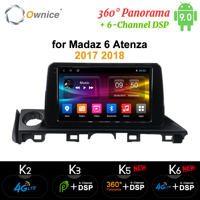 Ownice DSP 8 Core Android 9.0 K3 K5 K6 Car Audio <font><b>GPS</b></font> <font><b>Navigation</b></font> Player for <font><b>Mazda</b></font> CX-5 <font><b>Mazda</b></font> <font><b>6</b></font> Atenza 2017 2018 image