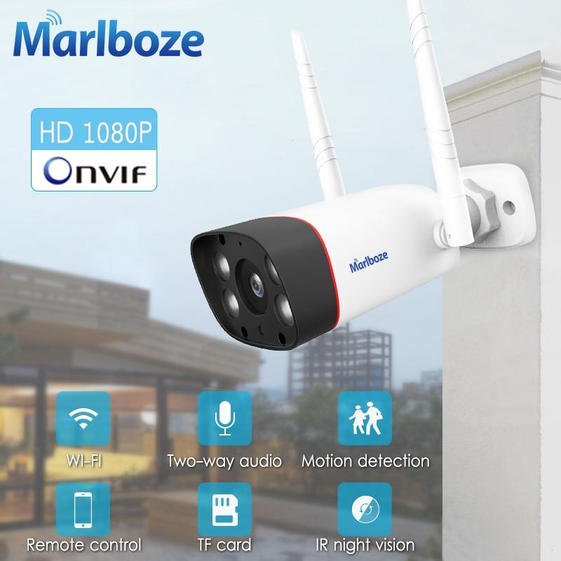 Marlboze 1080P Outdoor Indoor Wifi Camera Waterproof Bullet Ip Camera Web Camera Night Vision APP Remote Control Home Camera