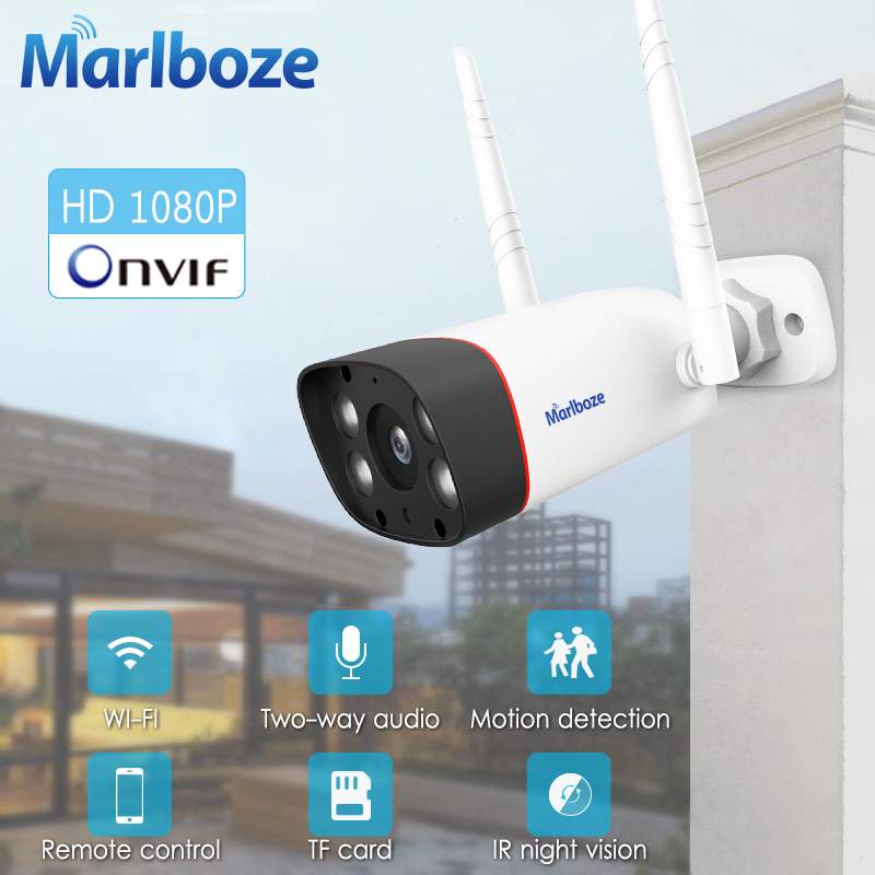 Marlboze 1080P Wifi Outdoor Ip Camera Waterproof 2MP Bullet Ip Camera Wireless Tf Card Wifi CCTV Home Camera YCC365 APP Control