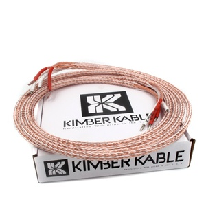 Paire HiFi 12TC 8N OCC câble haut-parleur principal Kimber Kable CMC rouge cuivre plaqué z-fiches 24 fils