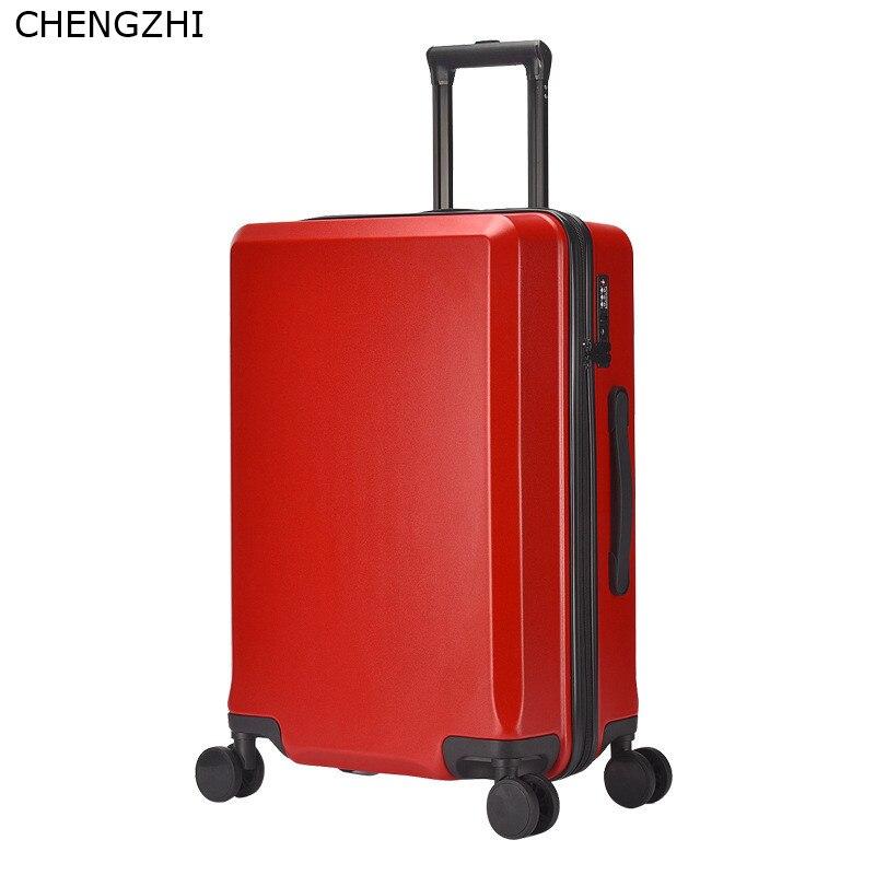 90FUN PC Koffer Kleurrijke Carry op Spinner Wielen Rolling Bagage TSA lock Business Travel Vakantie voor Vrouwen mannen - 6