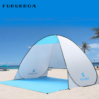 Automatic Sun Shelters Beach Tent UV Protection Pop Up Tents Sun Shade Awning Camping Outdoor Hiking Travel Shelter X318B zenph children s camping tent outdoor indoor dual use tent automatic speed open tents automatic hiking beach tents barraca
