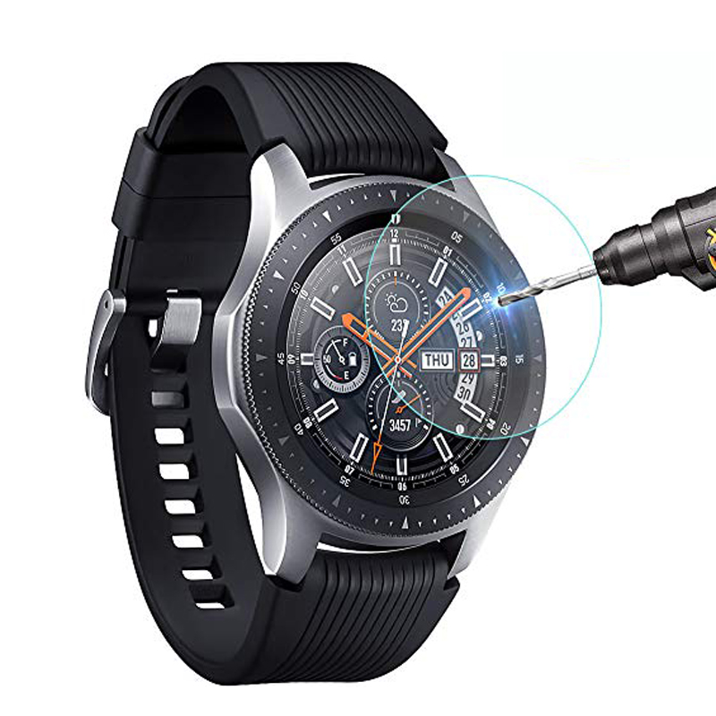 Protetor de telaPara o Galaxy Watch 46/42 mmFilme de vidro temperado HDDureza 9HFilme protetor anti-riscoPara o Samsung Gea