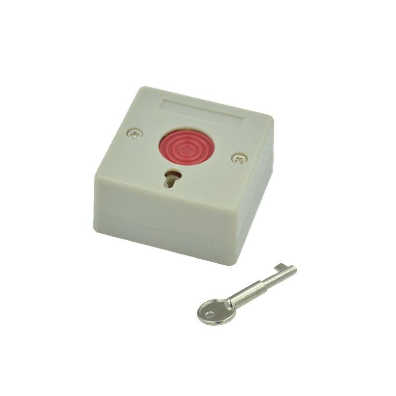 10 PCS NC NO Изходен сигнал Опции Защита Аксесоари за аларма Натиснете бутон за паника Пожарна аларма Спешен превключвател Натиснете Безплатна доставка