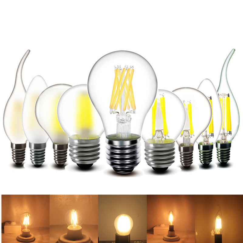 2w 4w 6w E27 E14 LED Bulb G45 C35 T45 Lamp Light 220v AC Small Lights Decoration Crystal Chandeliers Light Source
