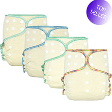 HappyFlute OS Hemp Fitted Cloth  Diaper,AIO each diaper with a snap insert, high absorbency, fit baby 5 15kgs