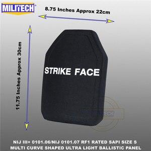 Image 4 - בליסטי פלייט Bulletproof NIJ רמת 3 + NIJ 0101.07 RF1 SAPI בגודל 1 PC קל במיוחד PE פנל נגד M80 & AK47 & M193 Militech