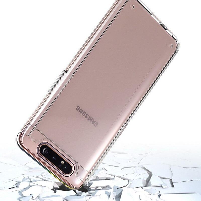 Samsung Galaxy A80 parachoques caso duro shockprotection Delgado claro de carga inalámbrica