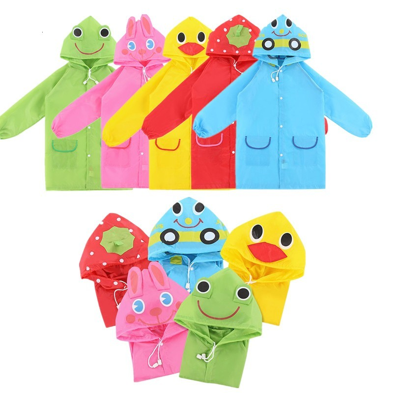 1PC Cartoon Animal Style Waterproof Children Raincoat Raincoat Children's Coat Raincoat Student Poncho Raindrop Baby Clothes