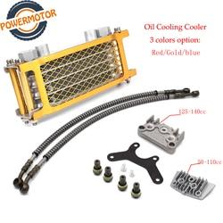 Motorrad Öl Kühlung Kit Kühler Kühler Ölkühler Set Für 50cc 70cc 90cc 110cc 125cc 140cc Dirt Bike Affe Fahrrad DAX Tasche