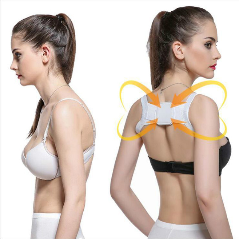 Posture Corrector Belt-Massager-Tool Shoulder-Support-Back-Brace Back-Support Adjustable title=