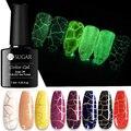 UR ZUCKER Knistern Gel Nagellack Luminous Gel lack Soak-off UV Gel Lack 7,5 ml Basis Top Mantel nail art Knistern Gel