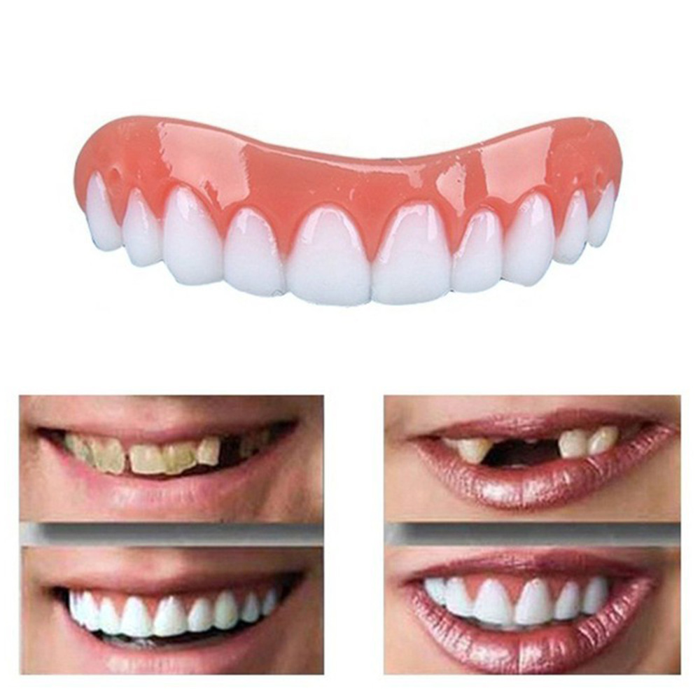 2020 New Temporary Face Teeth Denture Upper Comfort Braces Simulated Cosmetic Veneers for Snap on Instant Smile High Quality