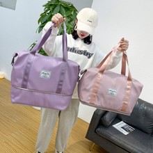 2021 Women Travel Bags Waterproof Sports Gym Bags Large Fitness Training Yoga Shoulder Bag For Women Travel Handbags