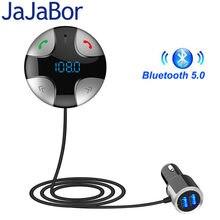Jajabor Bluetooth Handsfree Car Kit Fm-zender A2DP Draadloze Auto MP3 Speler Ondersteuning Tf-kaart Muziek Play Dual Usb Auto lader