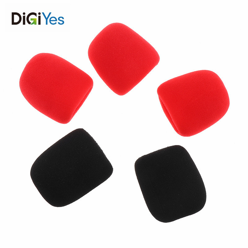 5pcs Universal Thickened Washable And Breathable Microphone Accessories Foam Cover Handheld Microphone Cover Replacement Newest