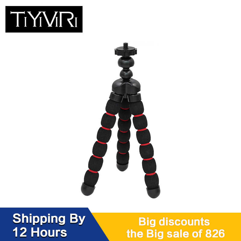 Octopus Camera Tripod Small Medium Large Gorillapod Sponge Accessories Tripe Mini Tripod Holder Bracket Phone Clip For Go Pro