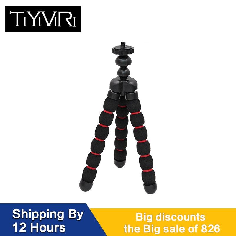 Pieuvre caméra trépied petit moyen grand Gorillapod éponge accessoires Tripe Mini support de trépied support téléphone Clip pour Go Pro