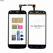 100% Test Touch Screen For Jinga Basco L3 Touch Screen Front Glass Digitizer Sensor replacement part