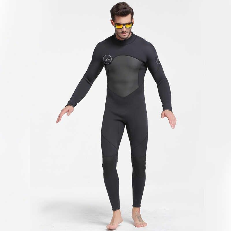 Terbaru 3 Mm Neoprene Wetsuit Pria Wanita Pakaian Renang Peralatan Menyelam Scuba Renang Surfing Spearfishing Sesuai Triathlon Pakaian Selam