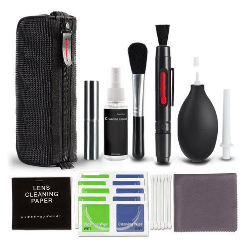 10 In 1 Professional Lens Cleaning Cleaner Kit For DSLR Nikon Canon Sony Camera PC Mobile Phone Clean Kit Equipment NO Alcohol