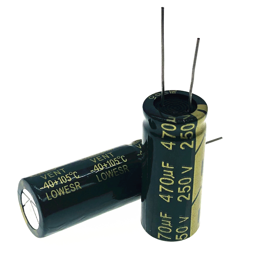 12pcs/lot 250v 470uf High Frequency Low Impedance 18*40 20% RADIAL Aluminum Electrolytic Capacitor 470000NF 20%
