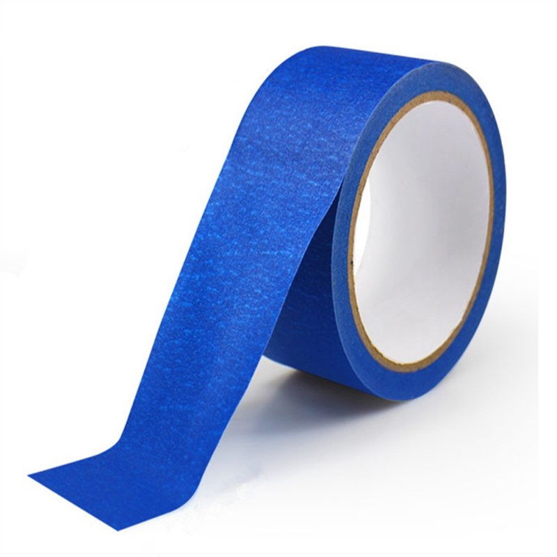 New Blue Painter Tape Paper Adhesive House Painting Peeling Peel Tape Easy To Tear Masking Tape Dispenser Weighted 30M