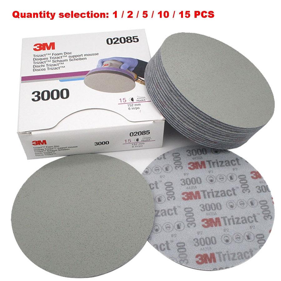 6 Inch 152mm Dry Wet Sponge Sandpaper Disc Back Velvet 3000 5000 Grit Abrasive Tools For Grinding 3M02085