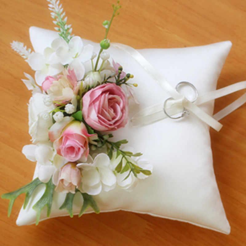 Lavender Lilac Ring Bearer Pillow Wedding Ring Pillow Bridal