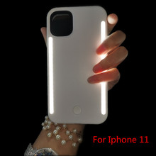 SOKELY Selfie Case Led Light Case For iPhone 11 Pro Max XR X XsMax Case LED Flash Phone Case For iPhone 12 8 7 6 6S Back Cover