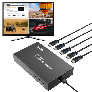 Image 5 - 4 Channels Display 4x1 Multiviewer Switch 1080P 60FPS USB 3.0 HDMI Video Capture Card Recording Live Streaming Box TV Loop Out